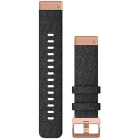 Garmin QuickFit Nylon Horlogeband 20mm voor Fenix 6S, black/rose gold